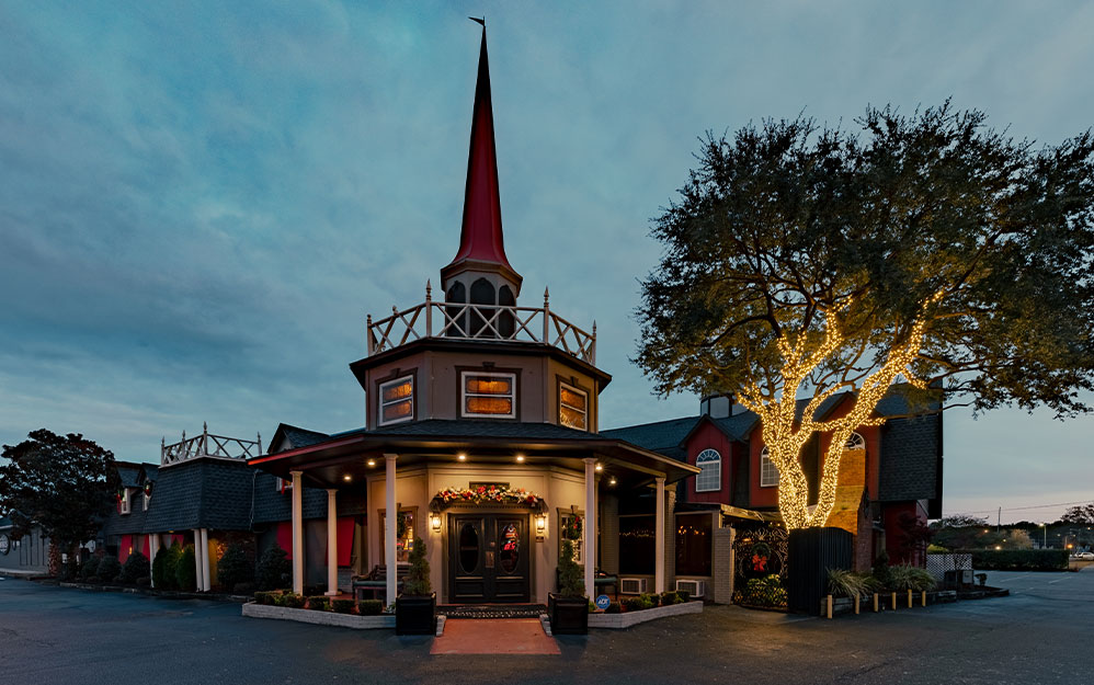 Exterior of the Front of Thoroughbreds Restaurant